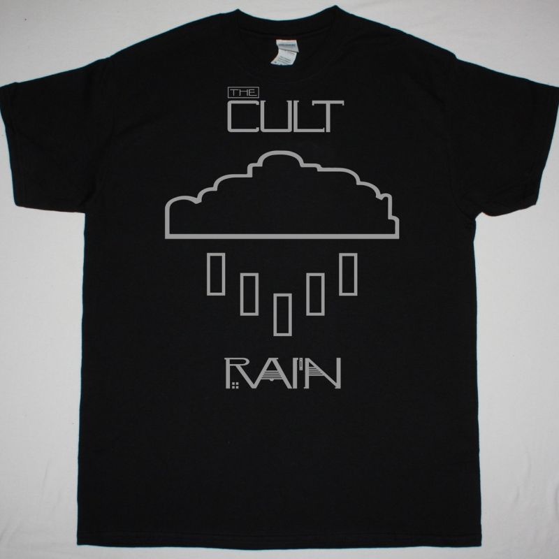 THE CULT RAIN NEW BLACK T-SHIRT