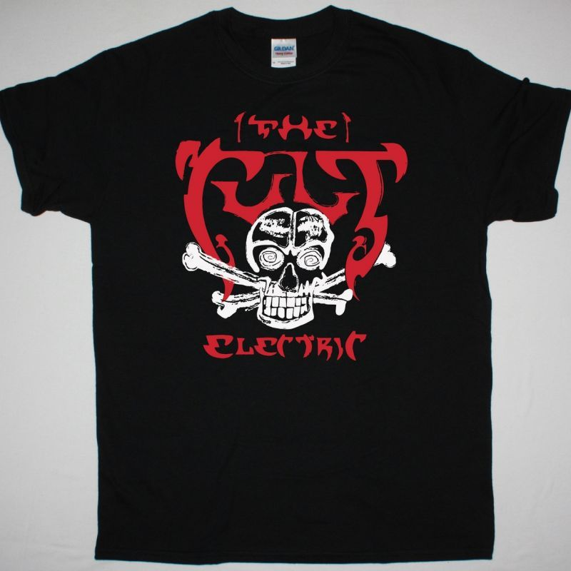 THE CULT SKULL ELECTRIC NEW BLACK T-SHIRT