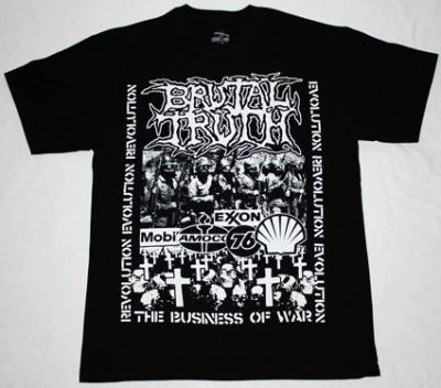 BRUTAL TRUTH EVOLUTION THROUGH REVOLUTION NEW BLACK T-SHIRT