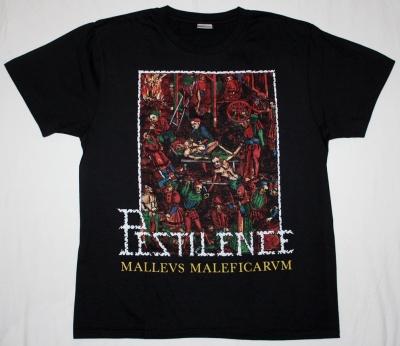 PESTILENCE MALLEUS MALEFICARUM NEW BLACK T-SHIRT