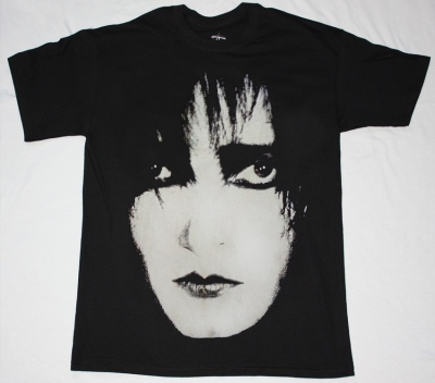 SIOUXSIE AND THE BANSHEES SIOUX FACE  NEW BLACK T-SHIRT