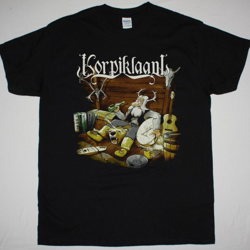 KORPIKLAANI VODKALANDIA NEW BLACK T-SHIRT