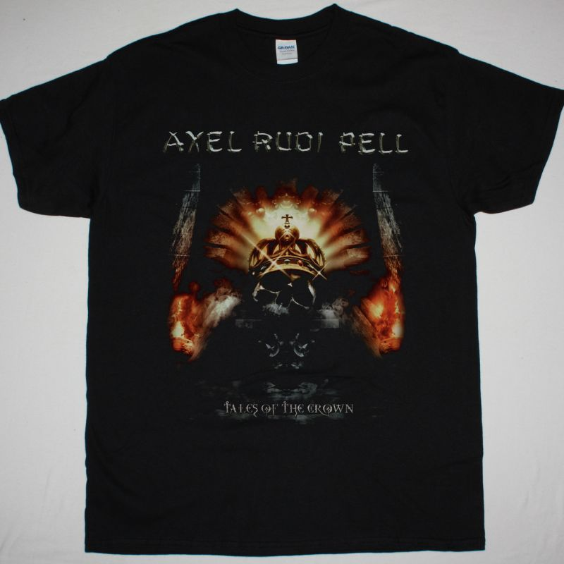 AXEL RUDI PELL TALES OF THE CROWN NEW BLACK T SHIRT