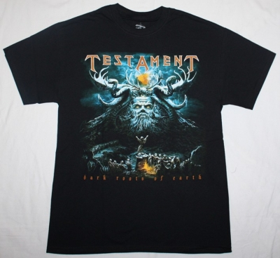 TESTAMENT DARK ROOTS OF EARTH  NEW BLACK T-SHIRT