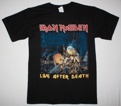 IRON MAIDEN LIVE AFTER DEATH 1985  NEW BLACK T-SHIRT