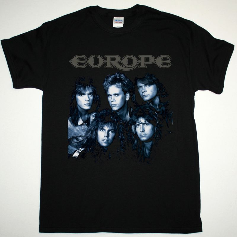 EUROPE OUT OF THIS WORLD NEW BLACK T-SHIRT