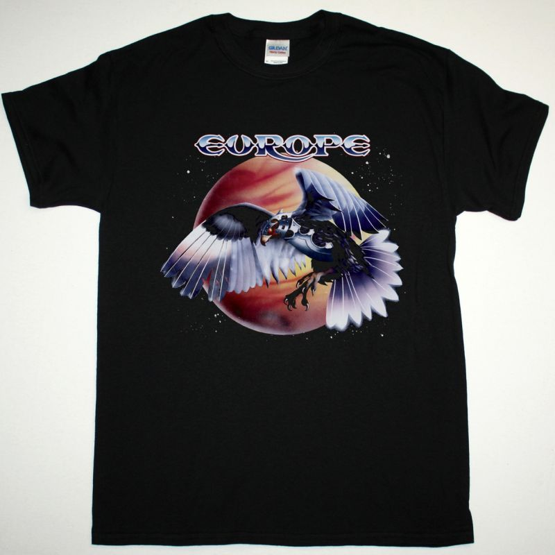 EUROPE WINGS OF TOMORROW NEW BLACK T-SHIRT