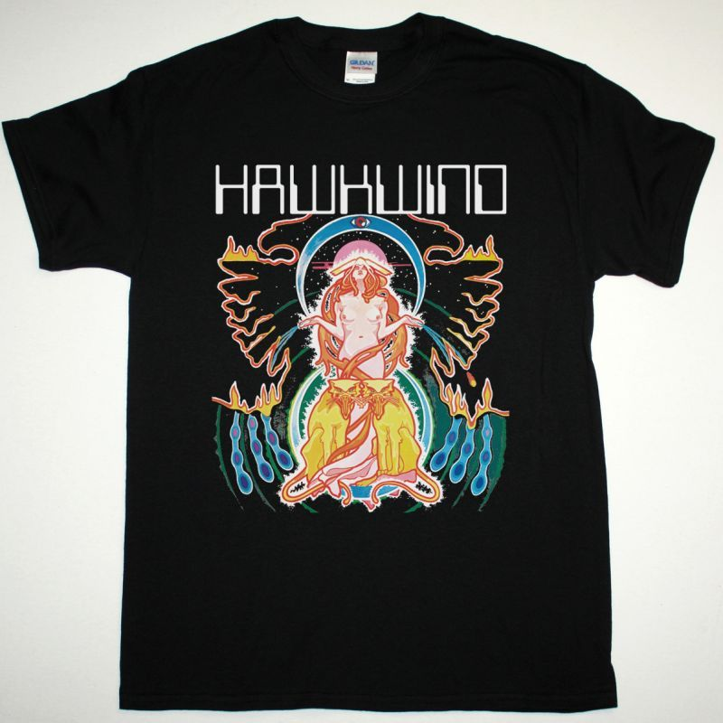 HAWKWIND SPACE RITUAL NEW BLACK T-SHIRT