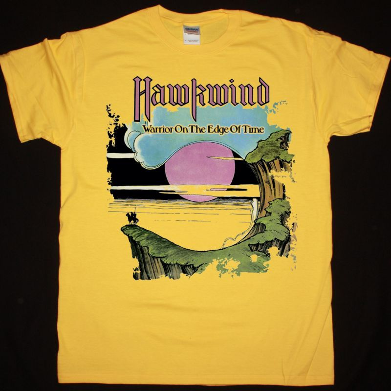 HAWKWIND WARRIOR ON THE EDGE OF TIME NEW YELLOW T-SHIRT