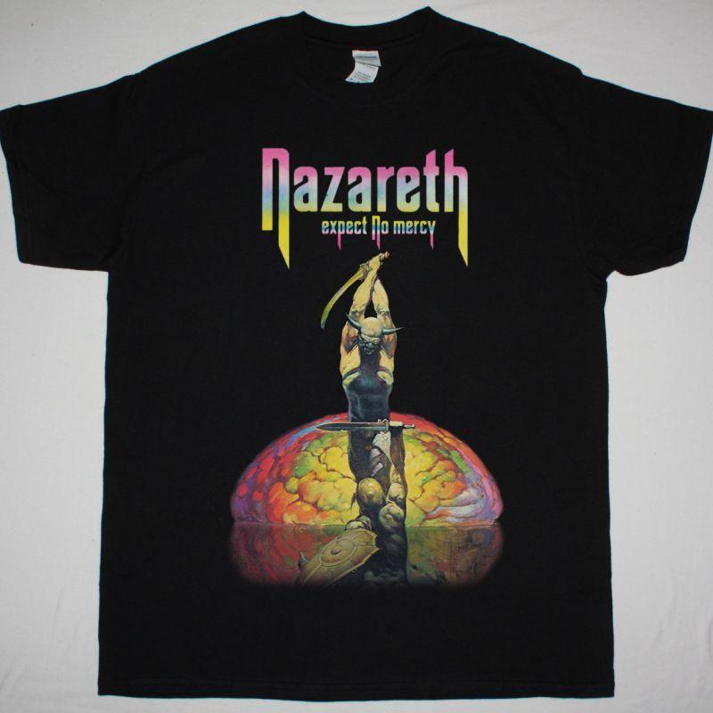 NAZARETH EXPECT NO MERCY 1977 NEW BLACK T-SHIRT