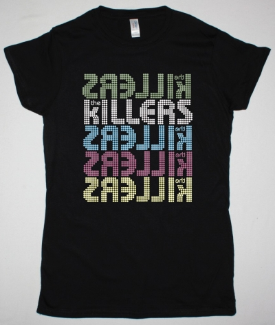 THE KILLERS 5 LOGOS NEW BLACK LADY T-SHIRT