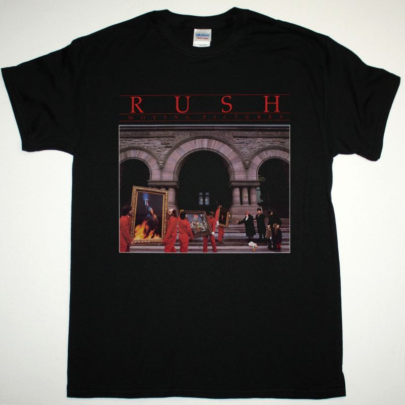 RUSH MOVING PICTURES NEW BLACK T-SHIRT