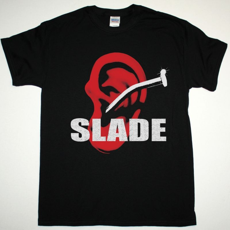 SLADE TILL DEAF DO US PART 1981 NEW BLACK T-SHIRT