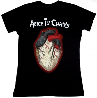 ALICE IN CHAINS BLACK GIVES WAY TO BLUE NEW BLACK LADY T-SHIRT