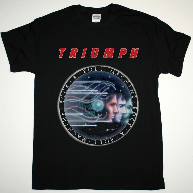 TRIUMPH ROCK N ROLL MACHINE 1977 NEW BLACK T-SHIRT