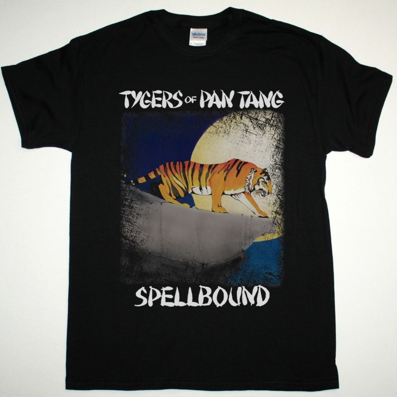 TYGERS OF PAN TANG SPELLBOUND 1981 NEW BLACK T-SHIRT