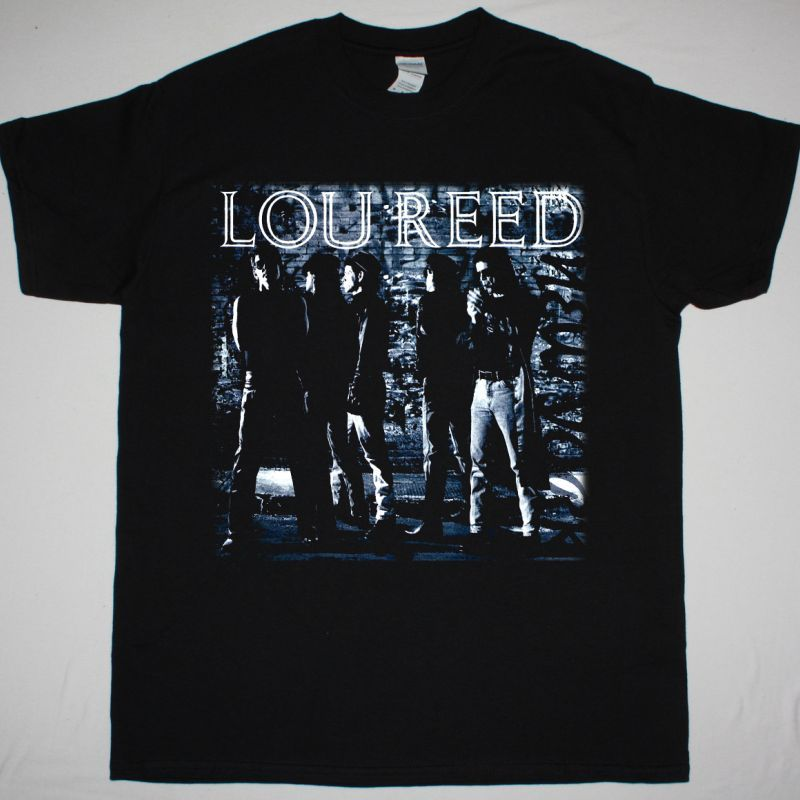 LOU REED NEW YORK NEW BLACK T SHIRT