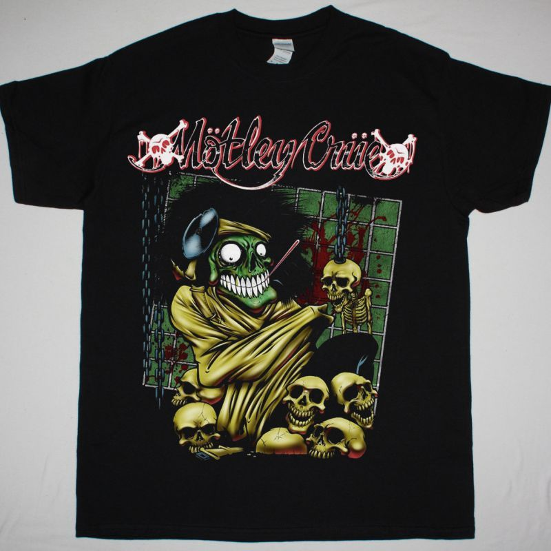 MOTLEY CRUE DR. FEELGOOD MAD HOUSE NEW BLACK T-SHIRT