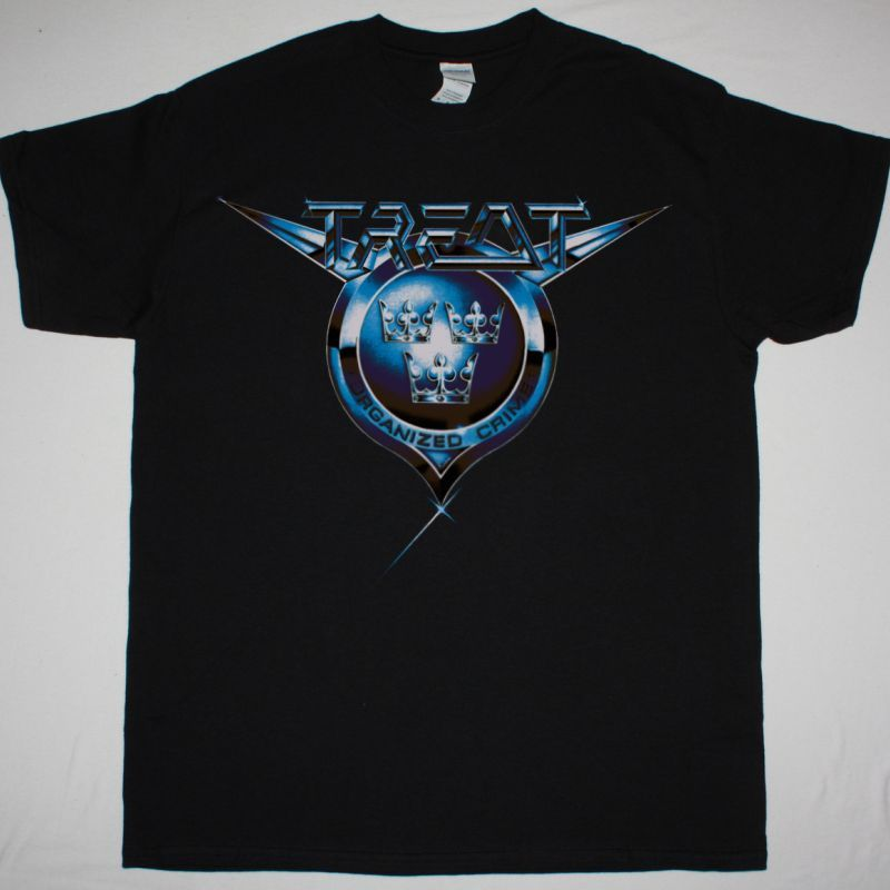 TREAT ORGANIZED CRIME 1989 NEW BLACK TSHIRT