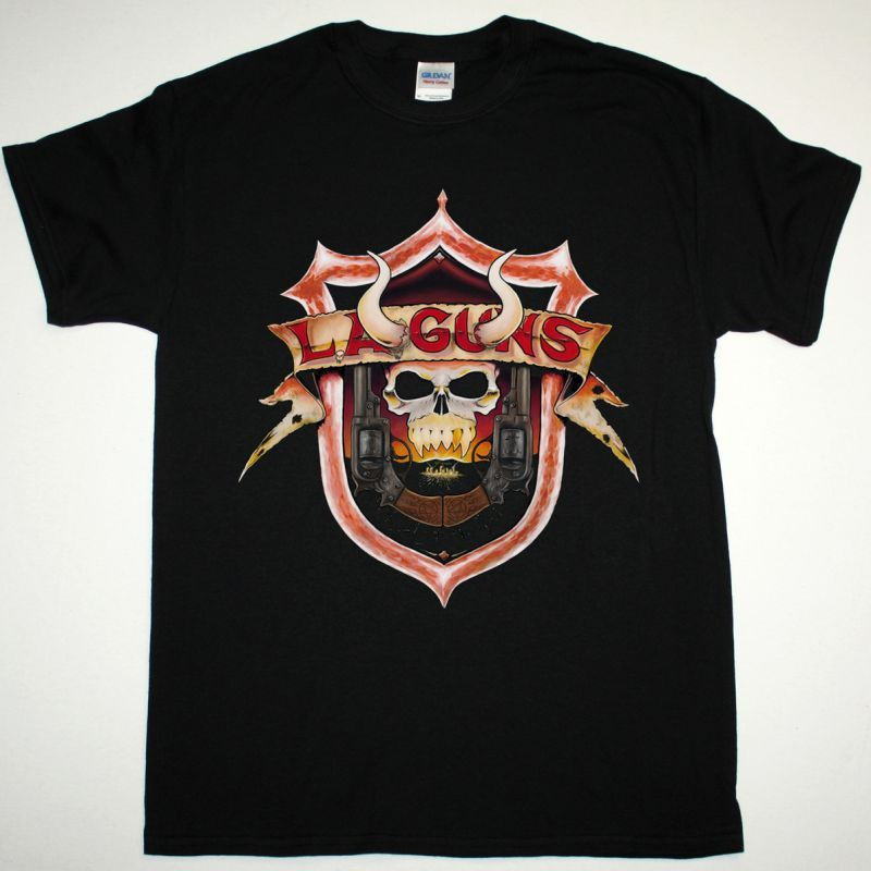 L.A. GUNS THE DEVIL YOU KNOW NEW BLACK TSHIRT