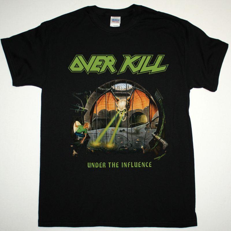 OVERKILL UNDER THE INFLUENCE 1988 NEW BLACK T SHIRT