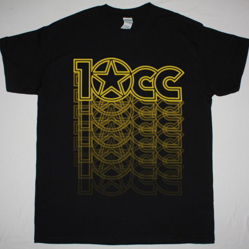10CC LOGO NEW BLACK T-SHIRT