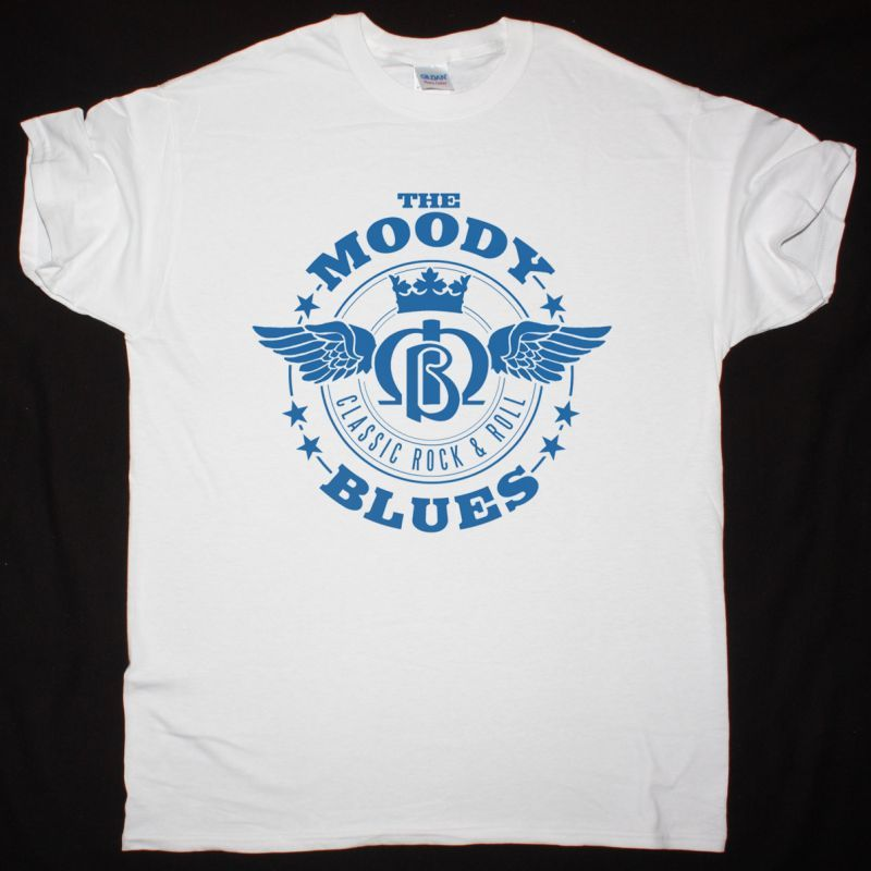 THE MOODY BLUES RETRO WINGS NEW WHITE T SHIRT