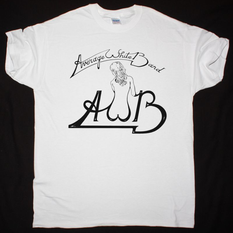 AVERAGE WHITE BAND AWB 1974 NEW WHITE T SHIRT