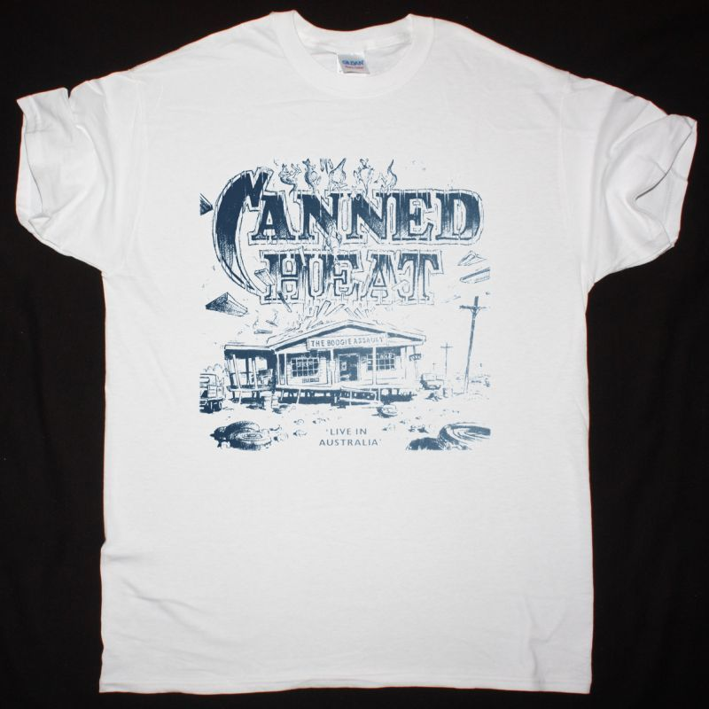 CANNED HEAT THE BOOGIE ASSAULT NEW WHITE T SHIRT