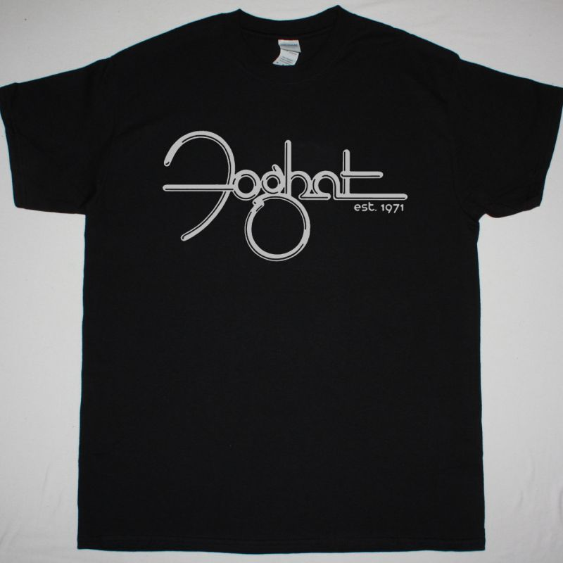 FOGHAT LOGO ESTABLISHED 1971 NEW BLACK T SHIRT
