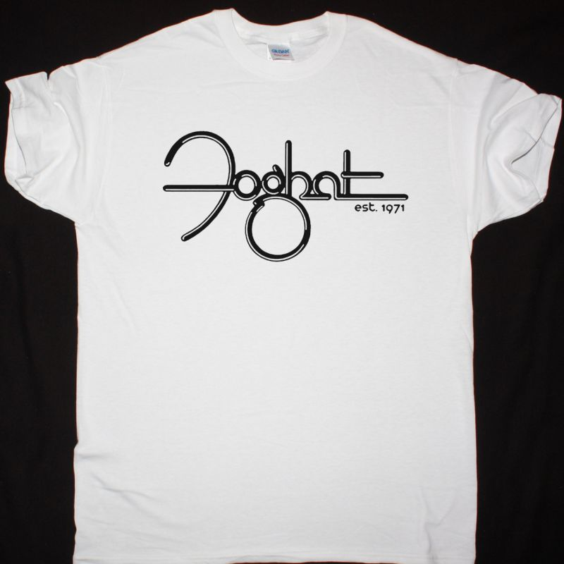 FOGHAT LOGO ESTABLISHED 1971 NEW WHITE T SHIRT