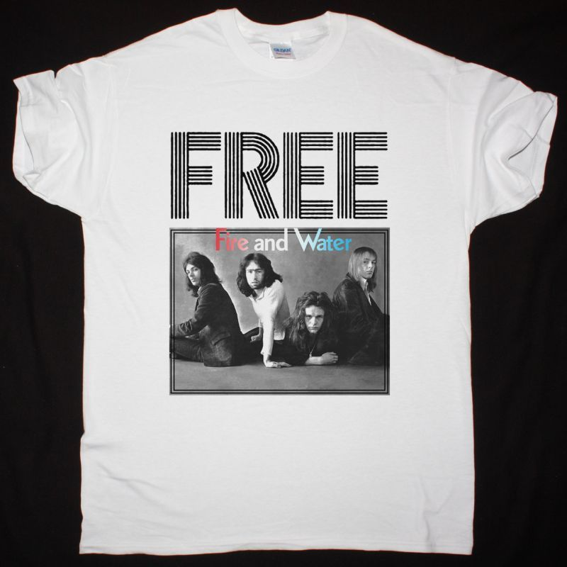 FREE FIRE AND WATER NEW WHITE T SHIRT