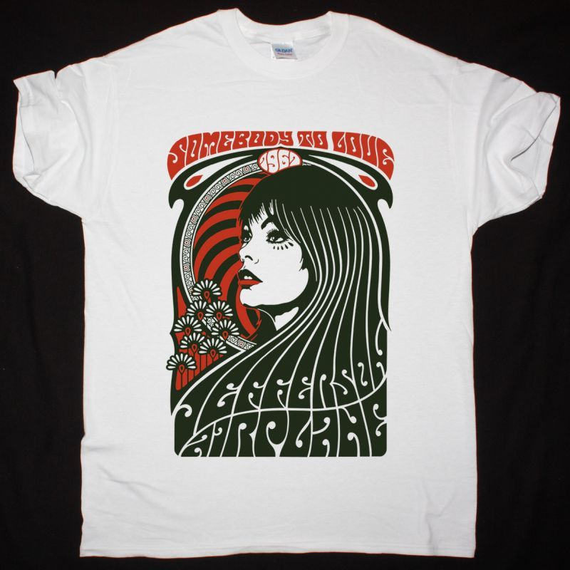 JEFFERSON AIRPLANE SOMEBODY TO LOVE NEW WHITE T SHIRT