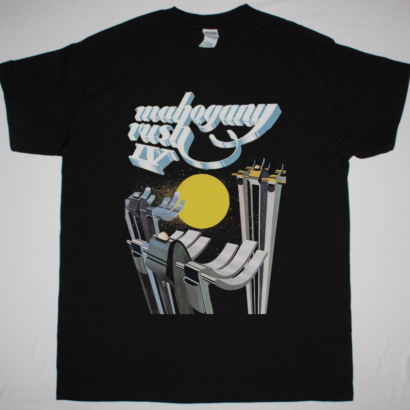 MAHOGANY RUSH IV 1976 NEW BLACK T SHIRT