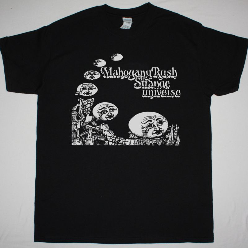MAHOGANY RUSH STRANGE UNIVERSE 1975 NEW BLACK T SHIRT