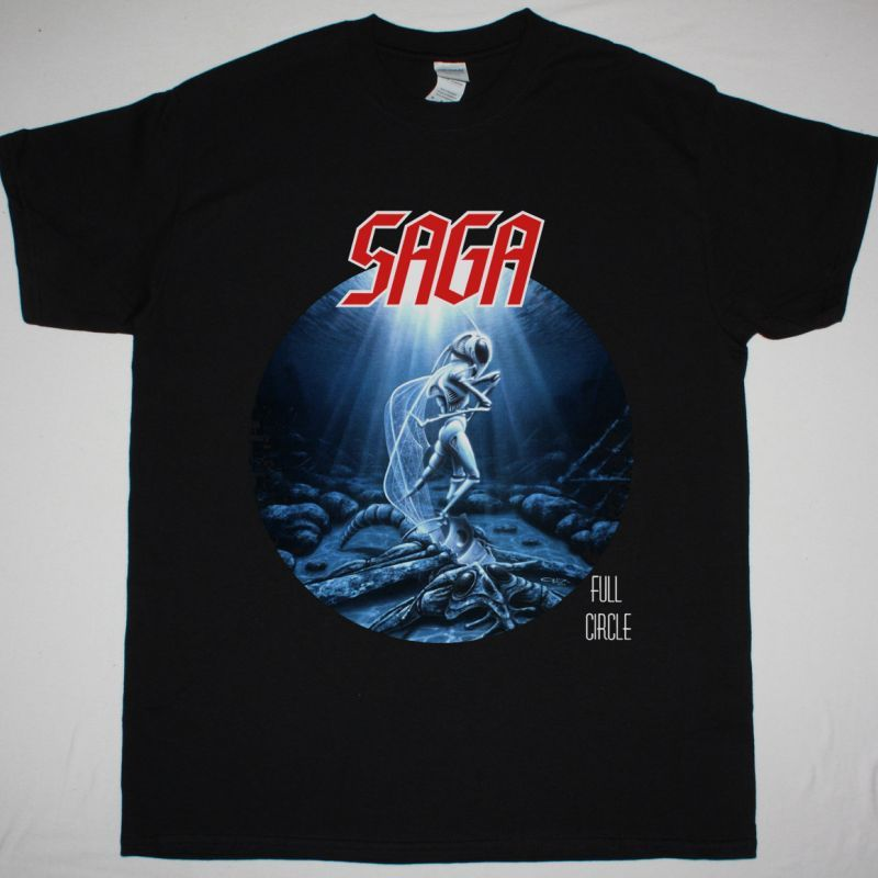 SAGA FULL CIRCLE NEW BLACK T-SHIRT