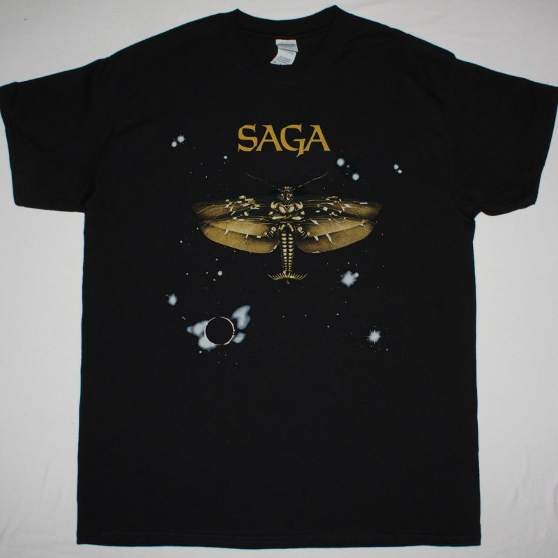 SAGA SAGA 1978 NEW BLACK T-SHIRT