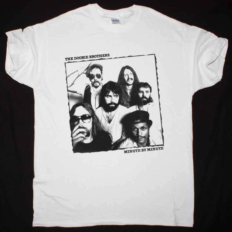 THE DOOBIE BROTHERS MINUTE BY MINUTE NEW WHITE T SHIRT