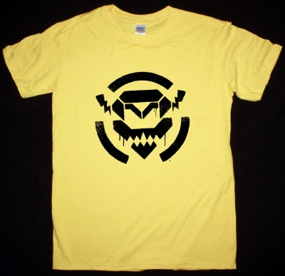 POP WILL EAT ITSELF ANONYMOUS ROBOT TEE NEW YELLOW T SHIRT