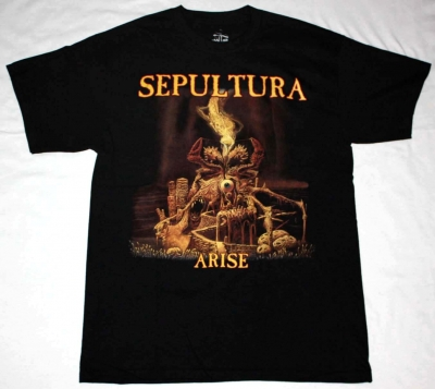 SEPULTURA ARISE'91  NEW BLACK T-SHIRT