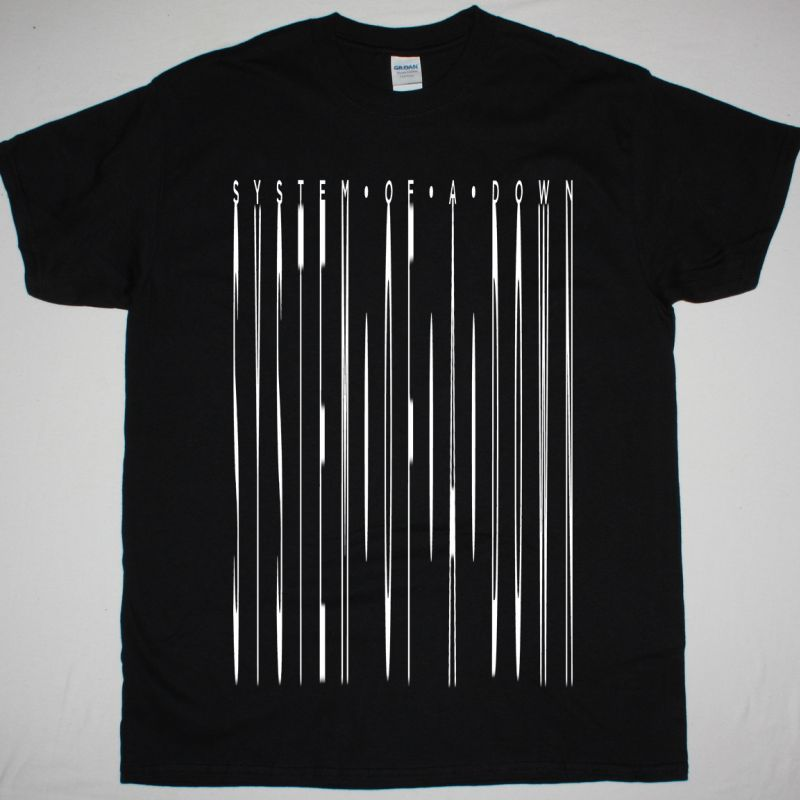 SYSTEM OF A DOWN MONOCHROME LOGO NEW BLACK T SHIRT
