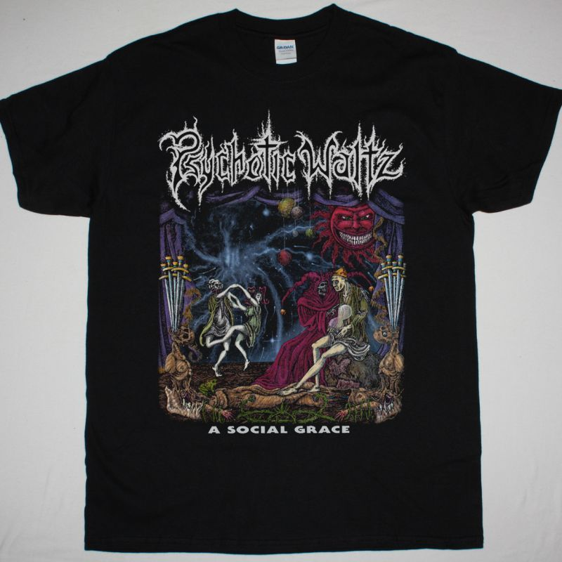 PSYCHOTIC WALTZ A SOCIAL GRACE 1990 NEW BLACK T SHIRT