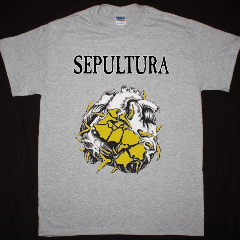 SEPULTURA CHAOS A.D. TOUR NEW SPORT GREY T SHIRT