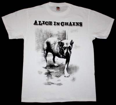 ALICE IN CHAINS DOG NEW WHITE T-SHIRT