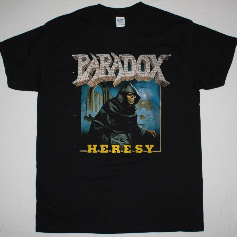 PARADOX HERESY 1989 NEW BLACK T-SHIRT