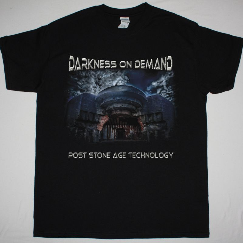DARKNESS ON DEMAND POST STONE AGE TECHNOLOGY NEW BLACK T-SHIRT