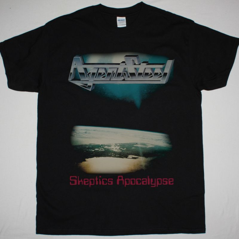 AGENT STEEL SKEPTICS APOCALYPSE NEW BLACK T SHIRT