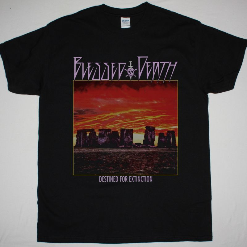 BLESSED DEATH DESTINED FOR EXTINCTION 1987 NEW BLACK T-SHIRT