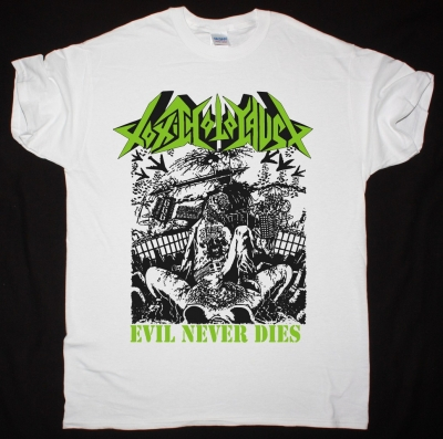 TOXIC HOLOCAUST EVIL NEVER DIES NEW WHITE T SHIRT