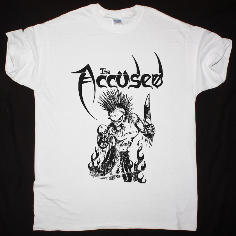THE ACCUSED MORE FUN THAN A OPEN CASKET FUNERAL NEW GREY T SHIRT